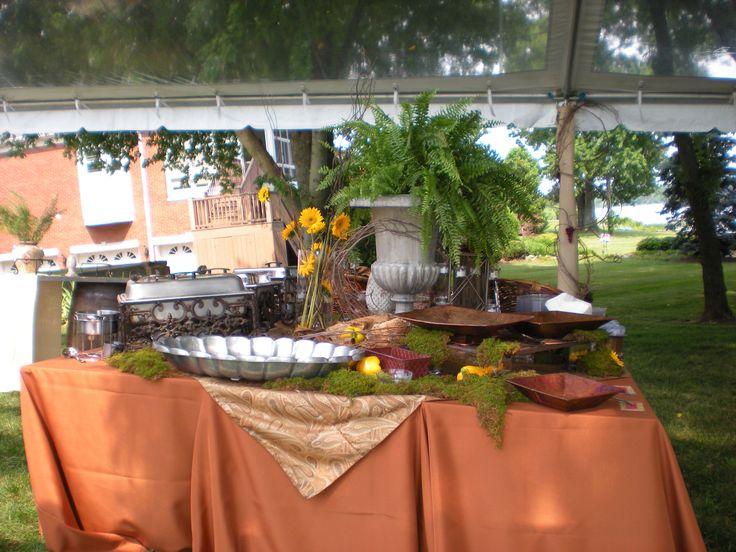 table setups for wedding receptions buffets