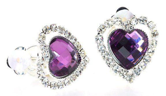 true love expression simulated rhinestone heart diamond