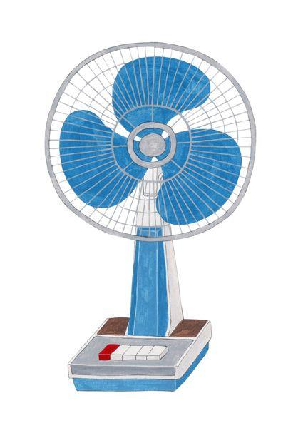 Retro fan illustration