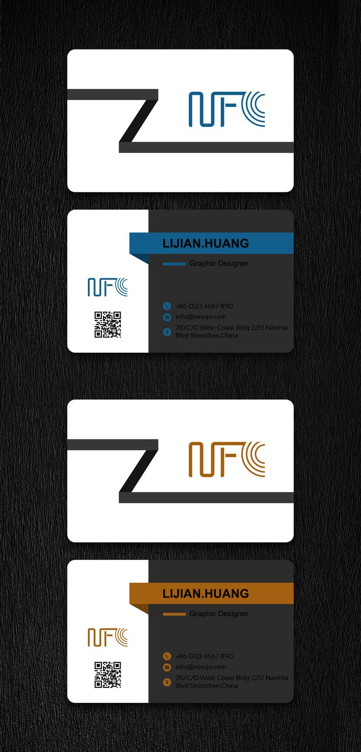 pinnexqo on nfc business card design  business card