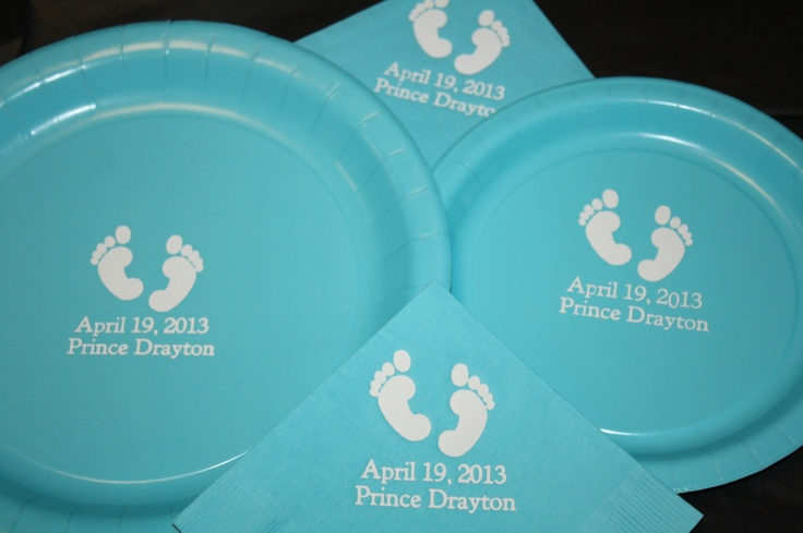 and napkin baby shower footprints learn how to design and create your