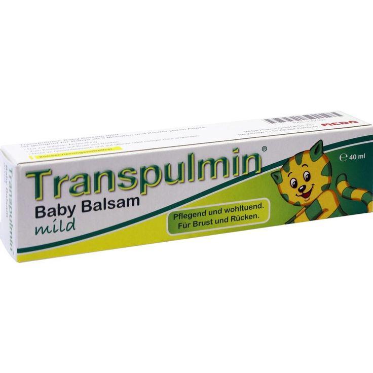 TRANSPULMIN Baby Balsam mild:   Packungsinhalt: 40 ml Balsam PZN: 01167593 Hersteller: MEDA Pharma GmbH & Co.KG Preis: 3,59 EUR inkl. 19…
