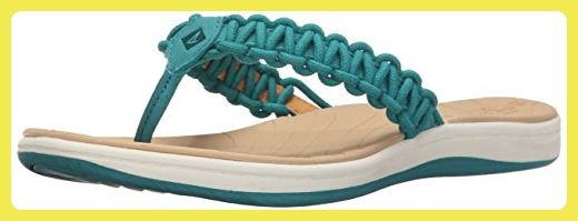 Sperry Top-Sider  Seabrook, Damen Sandalen blau Current Teal, blau - Current Teal - Größe: 37.5 - Sandalen für frauen (*Partner-Link)