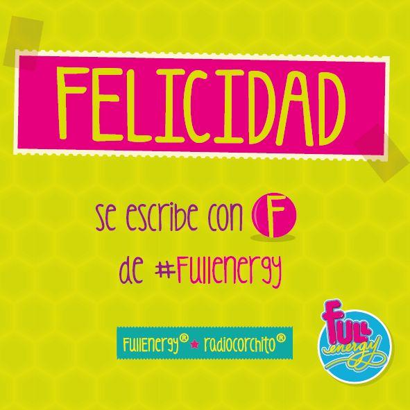 La felicidad es la llave de la vida!!!! :) http://www.radiocorchito.com/fullenergy/