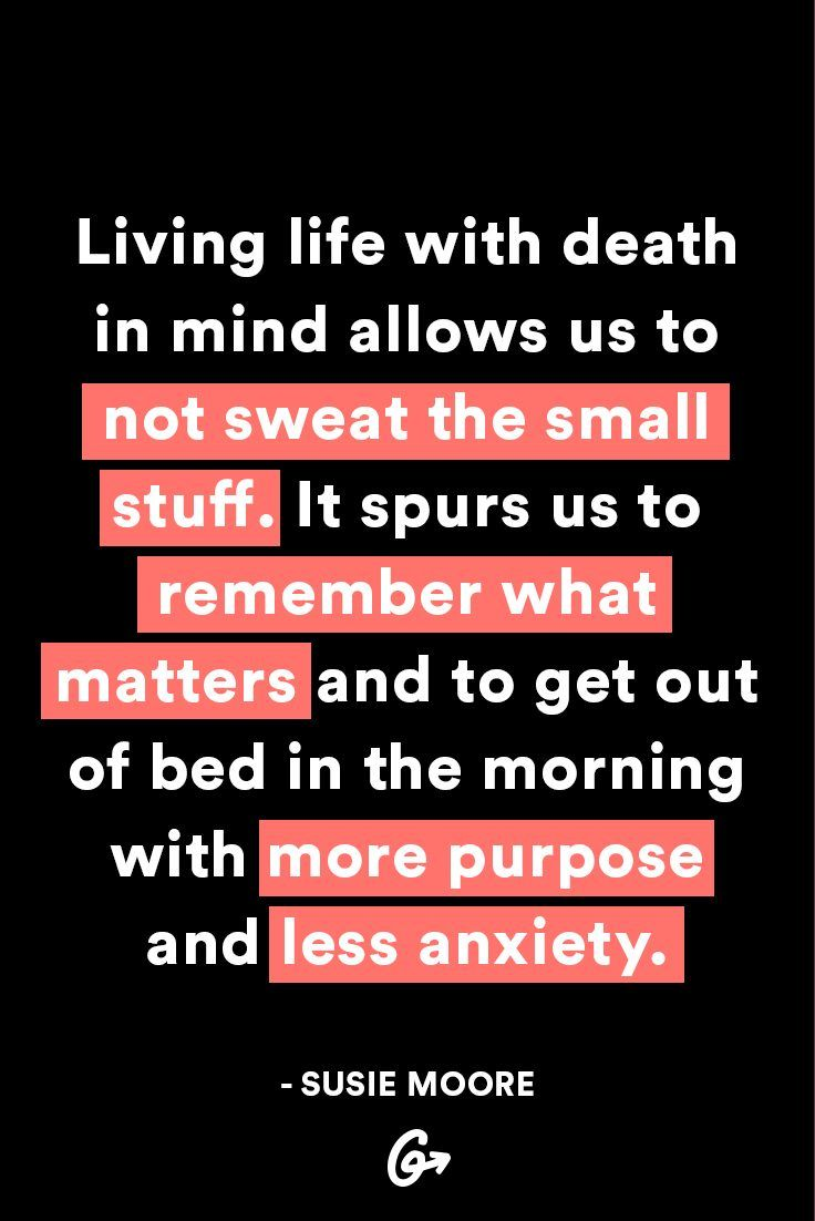 You'd be amazed at what a little shift in perspective can do. #greatist http://greatist.com/live/live-life-knowing-youre-going-to-die