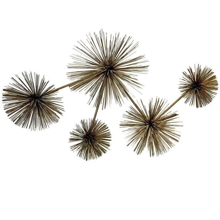 Metal Urchin Wall Decor : Curtis jere pom or sea urchin wall sculpture