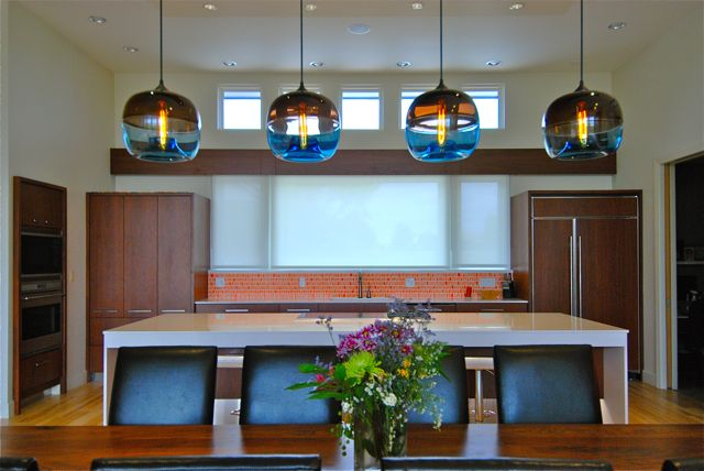 Modern lighting blog dining room table kitchen sink for Modern kitchen table lighting