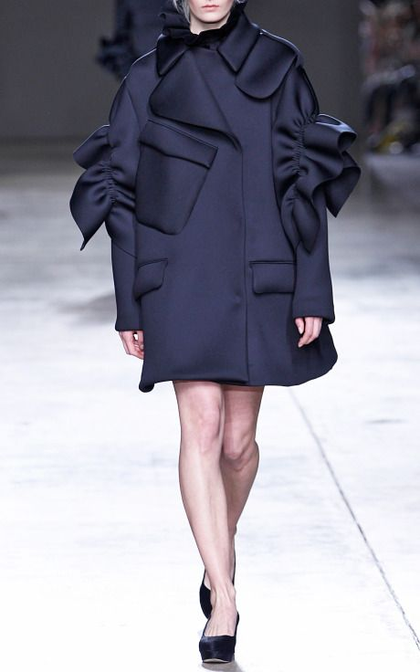 Double Jersey Frill Coat by Simone Rocha for Preorder on Moda Operandi