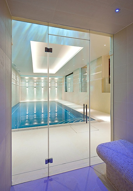 35 best images about swimming pools on pinterest loom for Swim spa in garage