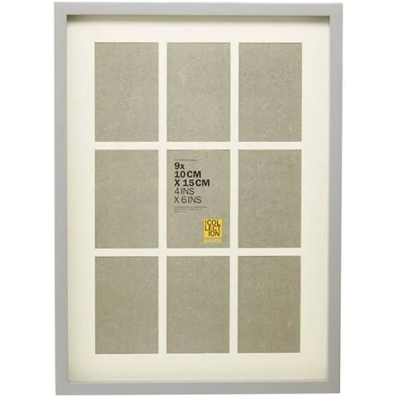 Home Collection Grey Nine Aperture Photo Frame