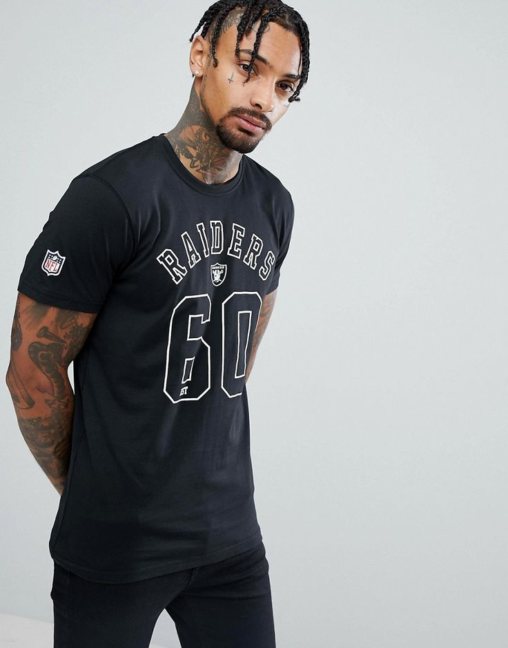 NEW ERA NFL RAIDERS ARCH LOGO T-SHIRT - BLACK. #newera #cloth #