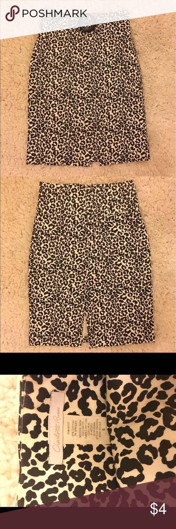 Cheetah print pencil skirt 🐆🐆🐆 Worn for first career, don't have any use since I'll be wearing scrubs to work now! Charlotte Russe Skirts Pencil