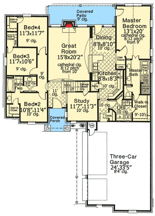 32 best images about house plans under 2500 sq ft on pinterest for 2500 sq ft apartment plans