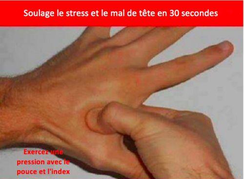 Soulager les maux de tête et le stress en 30 secondes grâce à l'acupression
