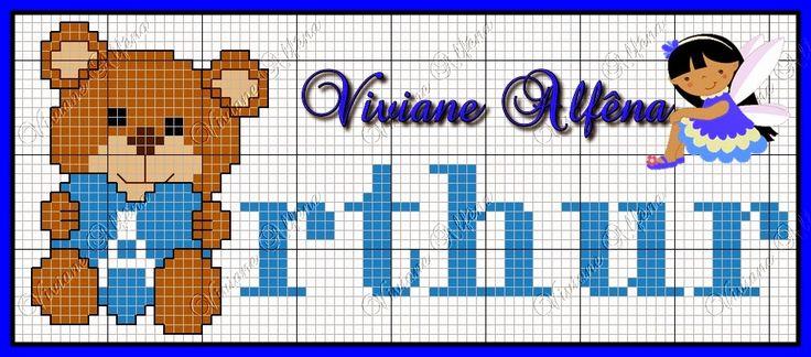 Viviane Alfêna - Gráficos e Bordados: ursinha