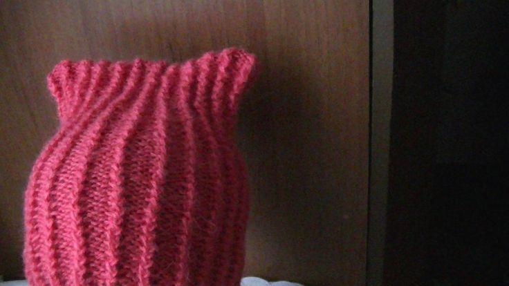 Вязание спицами для начинающих.Мастер-класс по вязанию шапки узором французская резинка по кругу. спицы купить http://ali.pub/xo9ji крючки купить http://ali....