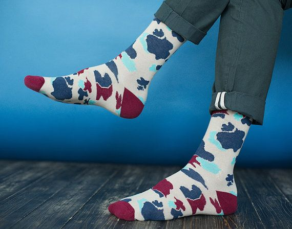 Pheasant hunter socks  for men. Cow patterned colorful socks. Easter gift. Free  worldwide delivery   #sammyicon  #socks #feet  #socken #fashion #accessories #sockdope #sockporn #outfit #style #fun  #etsy #legs