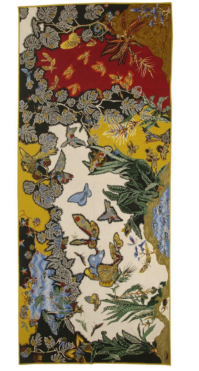 Au seul bruit du soleil. Jean Lurçat, jusqu'au 18 septembre 2016 à la Galerie des Gobelins, 42, avenue des Gobelins, 75013 Paris. / Tropiques, 1956, tapisserie d'Aubusson, atelier Picaud / © Fondation Lurçat ADAGP 2016