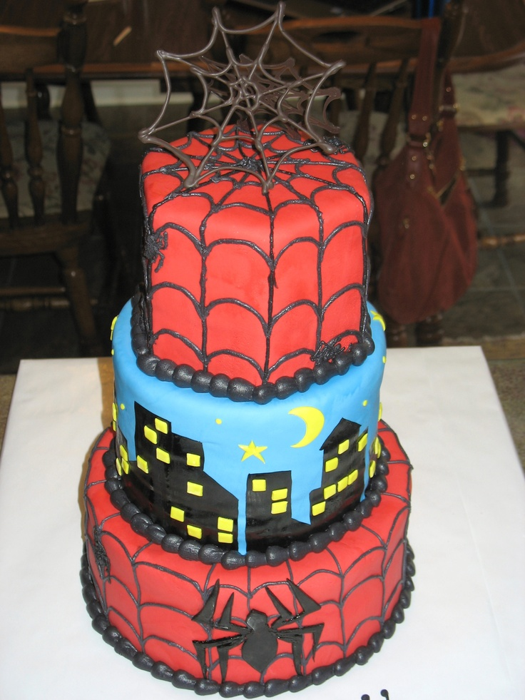17 Best Images About Spiderman Cake On Pinterest Spider