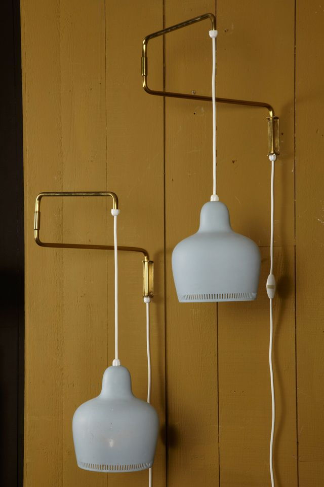 Pair Of Arm Wall Sconces By Alvar Aalto image 2