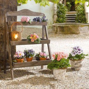 Outdoor Wooden Plant Stand Plant Stand For Outdoor Or Greenhouse Three Shelves Product Http