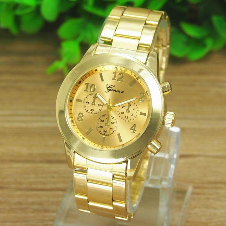 watches women fashion watch 2015 New Geneva Ladies Women Girl Unisex Stainless Steel Quartz Wrist Watch Orologio #jewelry, #women, #men, #hats, #watches