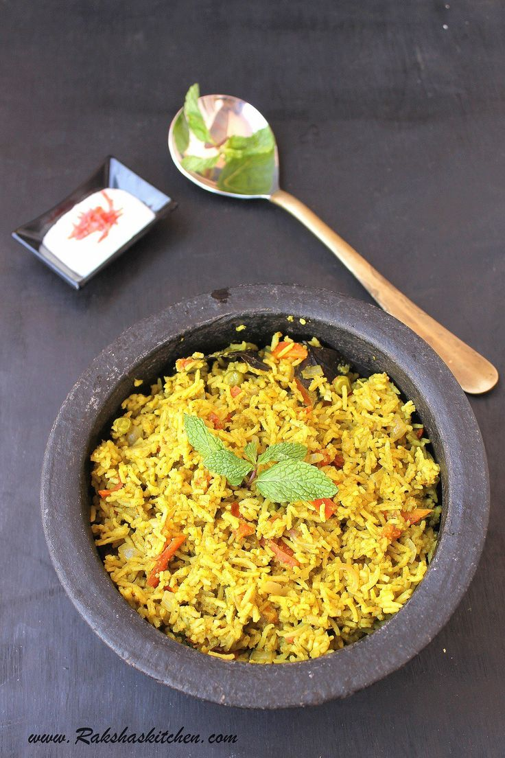 Pudina Pulao using microwave pressure cooker