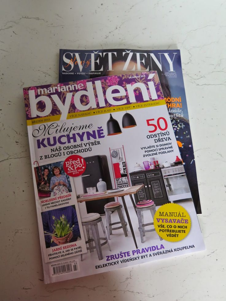 Součástí březnové zásilky bylo tentokrát také inspirativní čtení - časopisy Marianne Bydlení a Svět ženy