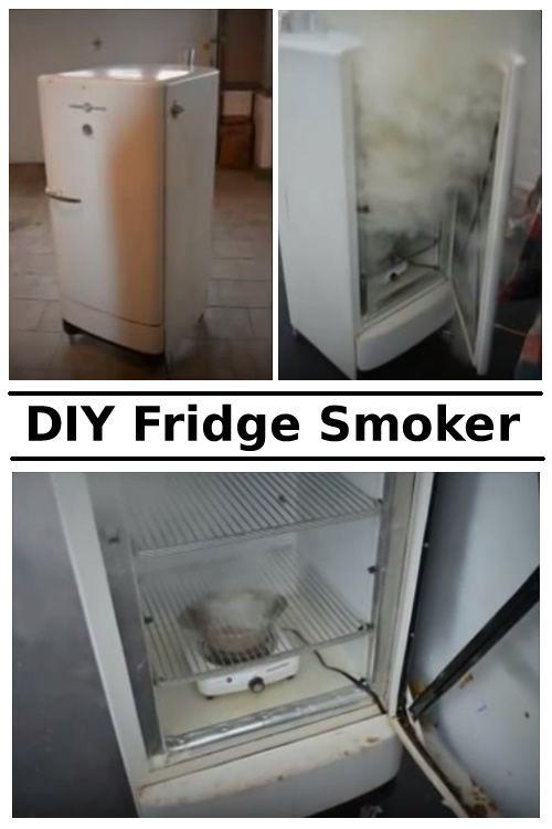 DIY Old Fridge Smoker #diy #repurpose