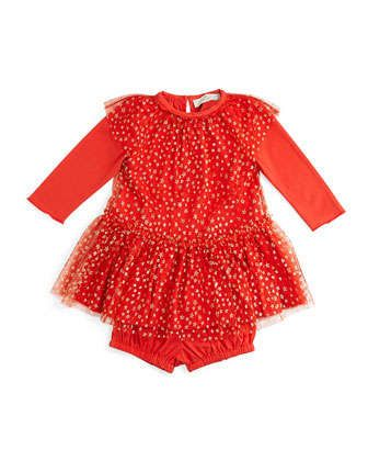 Mouse+Tulle-Overlay+Dress,+Red,+Size+6-24+Months+by+Stella+McCartney+at+Neiman+Marcus.