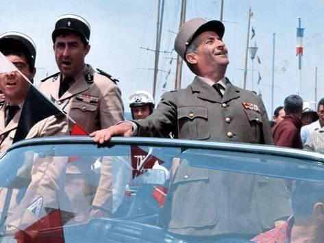 Louis de Funès, Guy Grosso and Michel Modo: Le Gendarme de Saint-Tropez, 1964 Photographic Print by Marcel Dole at AllPosters.com