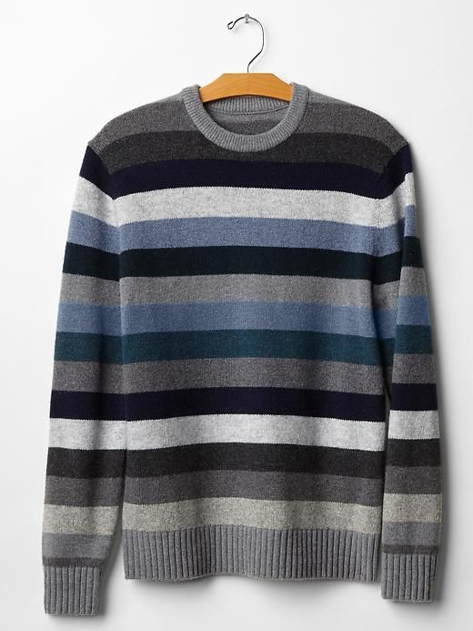Lambswool holiday stripe sweater Product Image
