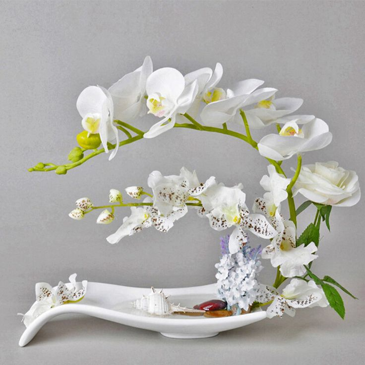 Simulation European table artificial flower dried floral art high simulation Phalaenopsis small desktop potted Home Decoration #Affiliate