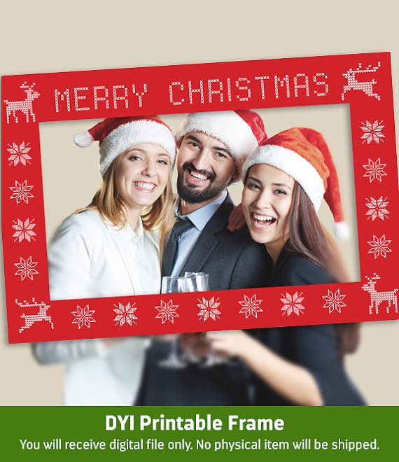 Christmas Prop DIY Instagram Frame by