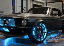 WOW WOW WOW   The Project Detroit car, a 2012 Ford Mustang, tricked out by West Coast Customs with Microsoft technology inside.  (Credit: Microsoft)