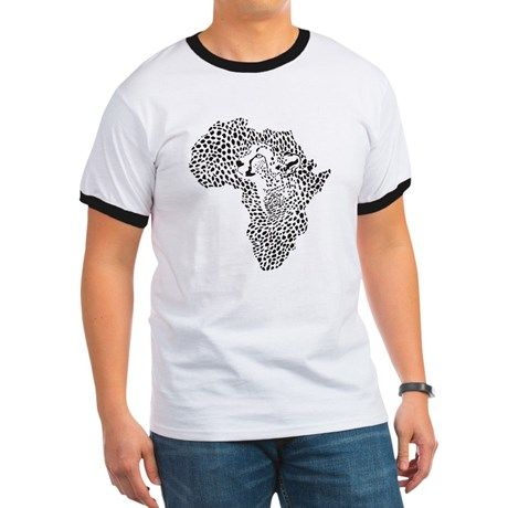 Africa in a cheetah camouflage T on CafePress.com