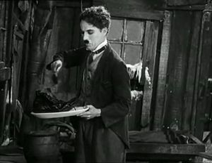 "legendary ""eating his shoe"" scene from The Gold Rush"