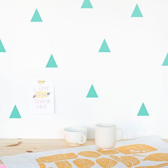 Décalque de mur triangle menthe / Triangles par MadeofSundays