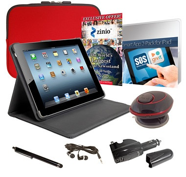 Apple 64GB Wi-Fi 4th Generation iPad Bundle with Retina Display - Black - RED #ilovetoshop