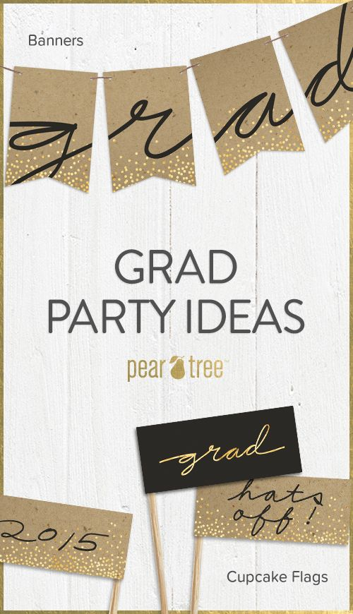 Check out our 2015 graduation lookbook for graduation party ideas and graduation party decorations to create a memorable party for your grad! #graduation