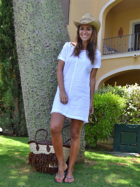 Vestido blanco (playa)