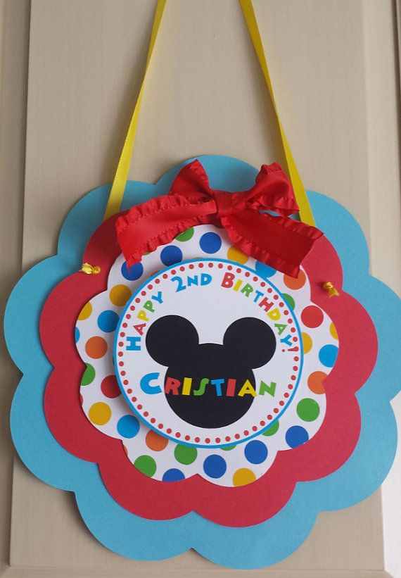 Mickey Mouse Clubhouse Door Sign by mlf465 on Etsy