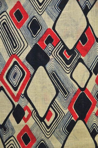 60s Vintage stof linnen