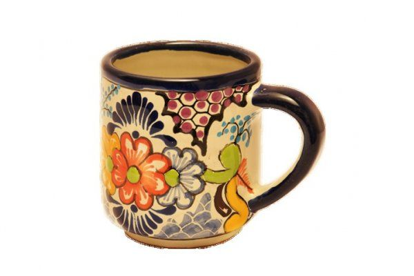 Set de 2 tazas/tarros cafe en Talavera