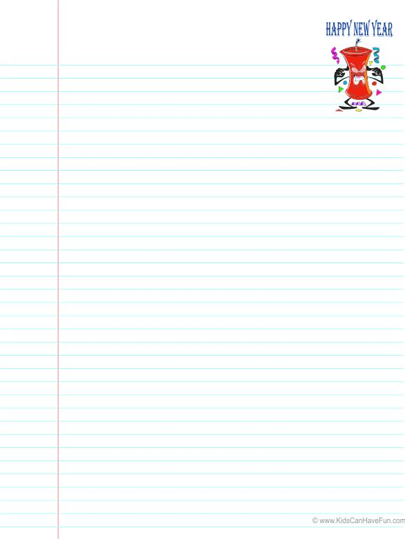 Ruled paper, New Year's and Activities on Pinterest