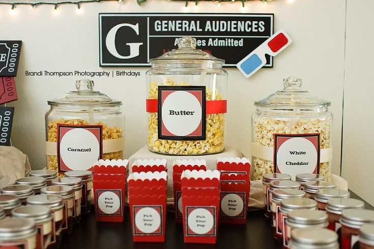 Movie Themed Birthday Party – but great for MOVIE NIGHT too!
