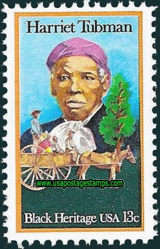 Commemorative Stamp | Commemorative Stamps: 13c Harriet Tubman and Slaves. Black Heritage ...