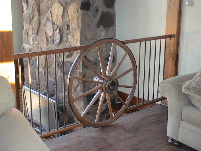 wagon wheel rail..this would go great on an outside deck!!!