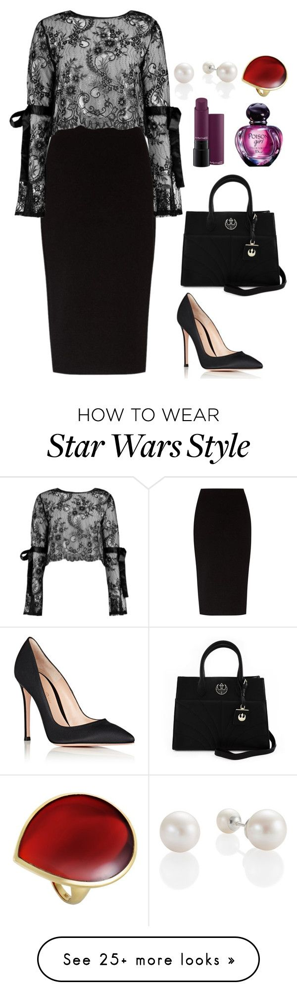"""fashion"" by ee3674889 on Polyvore featuring The Row, Boohoo, Loungefly, Gianvito Rossi, MAC Cosmetics, Christian Dior and Ippolita"