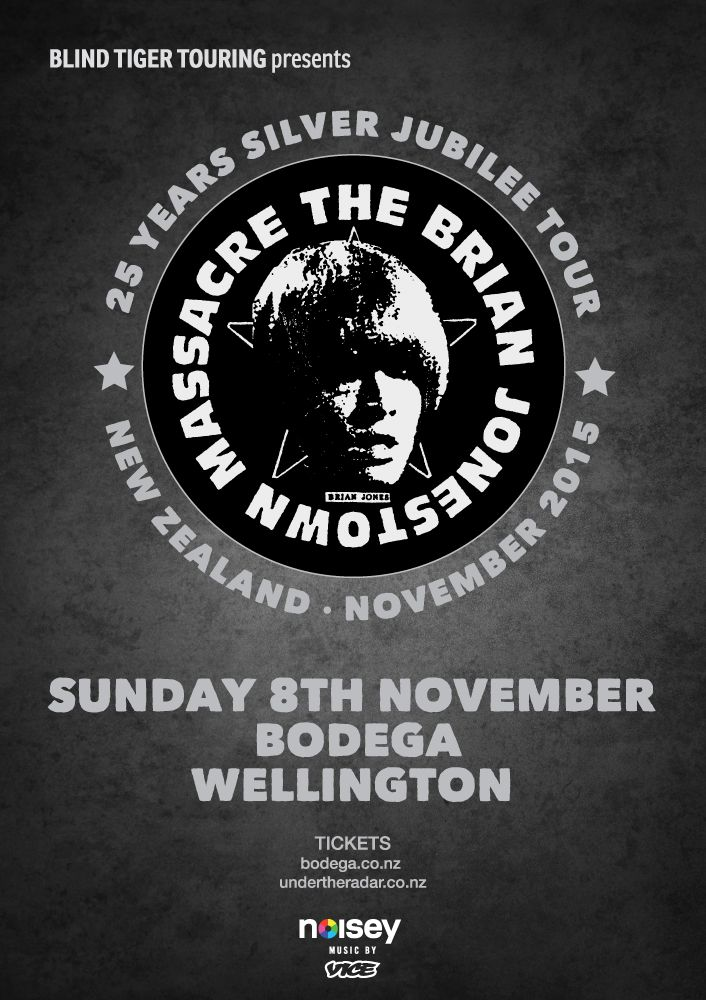 Brian Jonestown Massacre for Wellington, Auckland, Christchurch and Dunedin